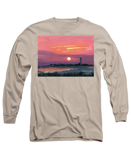 Cape May Sunset Long Sleeve T-Shirt by Barbara Jewell