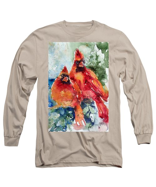 Cardinal Birds Long Sleeve T-Shirt