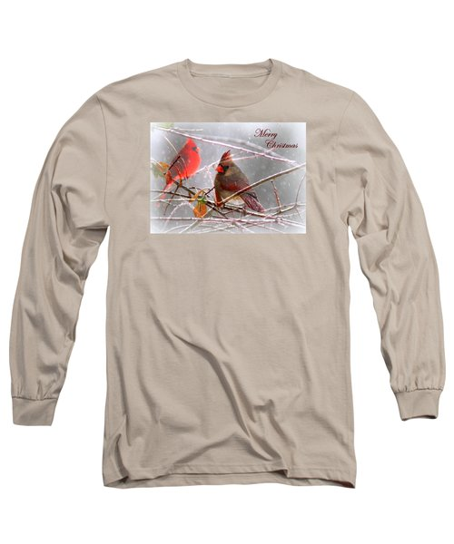 Cardinals - Male And Female - Img_003card Long Sleeve T-Shirt by Travis Truelove