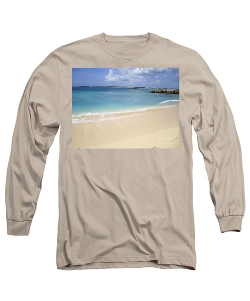 Caribbean Beach Front Long Sleeve T-Shirt by Fiona Kennard