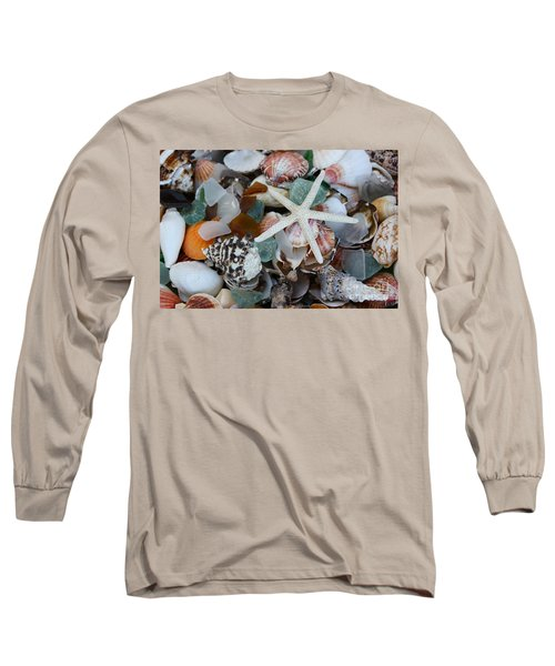 Caribbean Shells Long Sleeve T-Shirt by The Art of Alice Terrill