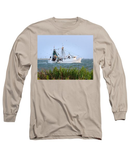 Carolina Girls Shrimp Boat Long Sleeve T-Shirt