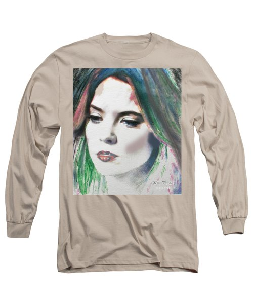 Long Sleeve T-Shirt featuring the digital art Carrie  by Kim Prowse