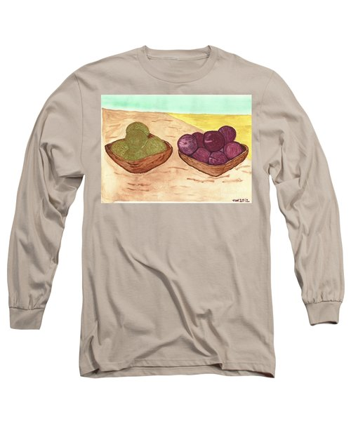 Long Sleeve T-Shirt featuring the painting Castaway Fruit by Tracey Williams