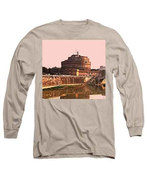 Long Sleeve T-Shirt featuring the photograph Castel Sant 'angelo by Brian Reaves
