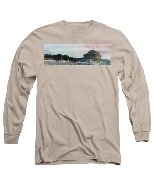 Long Sleeve T-Shirt featuring the painting Castel Sant'angelo     by Brian Reaves
