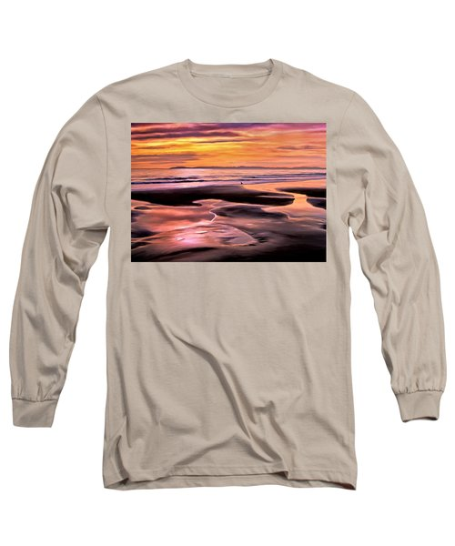 Long Sleeve T-Shirt featuring the painting Catalina Sunset by Michael Pickett