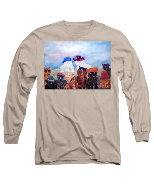 Cats In Hats Long Sleeve T-Shirt