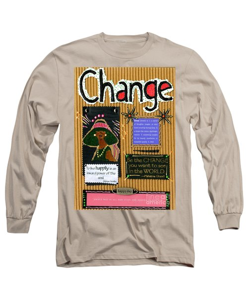 Change - Handmade Card Long Sleeve T-Shirt