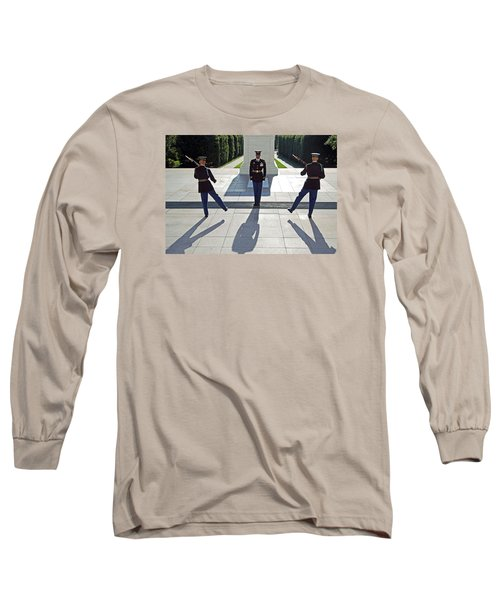 Long Sleeve T-Shirt featuring the photograph Changing Of The Guard by Cora Wandel