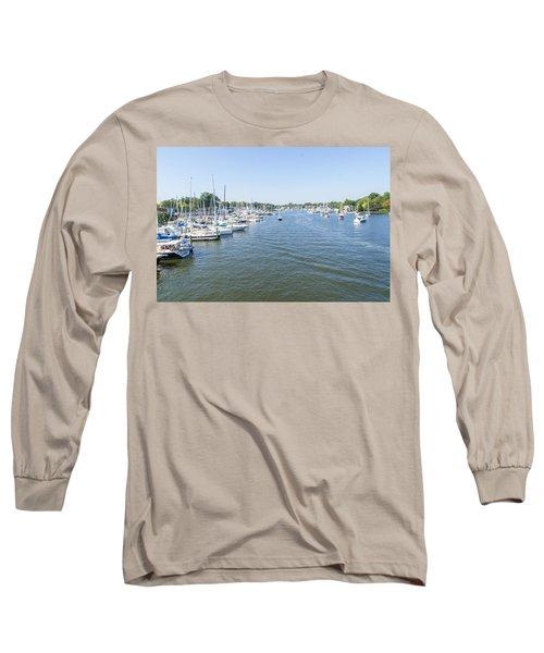 Channel Down Spa Creek Long Sleeve T-Shirt by Charles Kraus