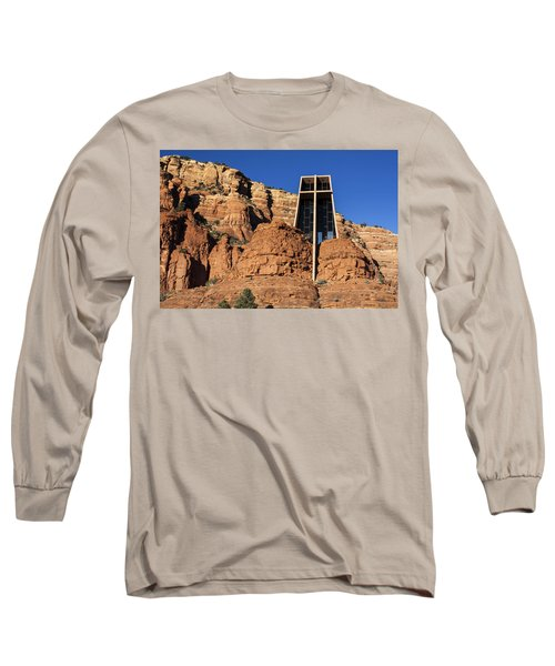 Chapel Of The Holy Cross Long Sleeve T-Shirt by Fred Larson