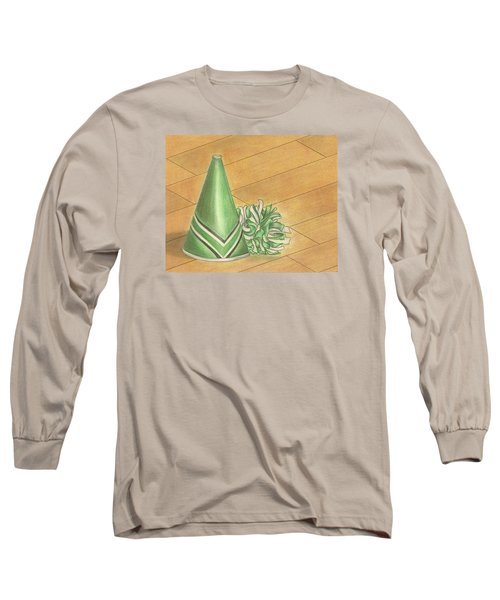 Long Sleeve T-Shirt featuring the drawing Cheer by Troy Levesque