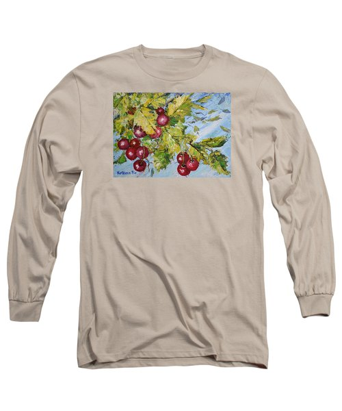 Long Sleeve T-Shirt featuring the painting Cherry Breeze by Kathleen Pio