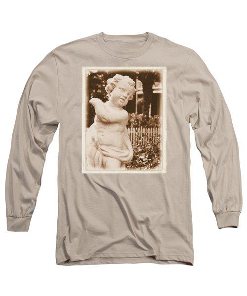 Cherub In The Garden Long Sleeve T-Shirt