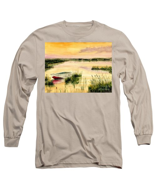 Chesapeake Marsh Long Sleeve T-Shirt by Melly Terpening