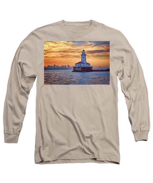 Chicago Lighthouse Impression Long Sleeve T-Shirt