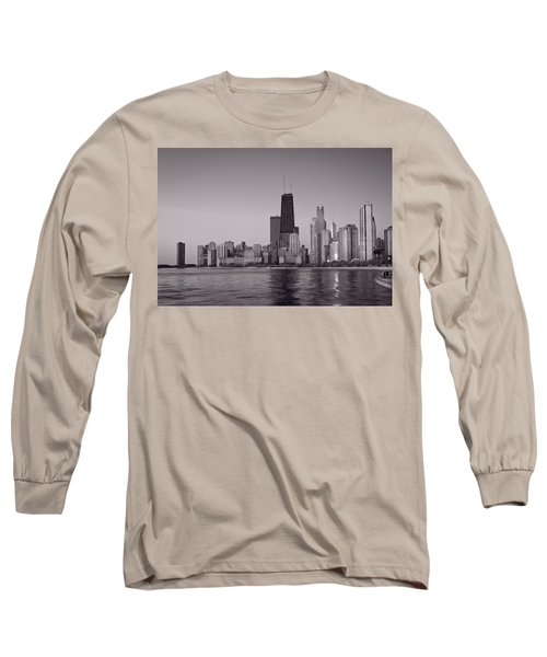 Chicago Morning Bw Long Sleeve T-Shirt