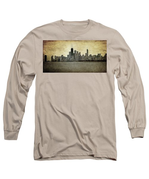 Chicago On Canvas Long Sleeve T-Shirt