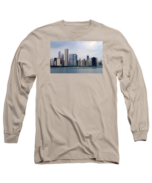 Long Sleeve T-Shirt featuring the photograph Chicago Panorama by Milena Ilieva