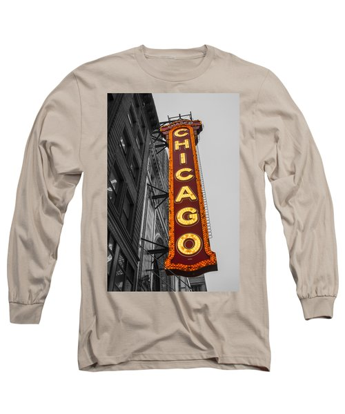 Chicago Theater Selective Color Long Sleeve T-Shirt