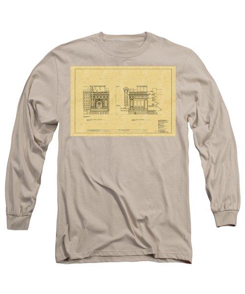 Chicago Theatre Blueprint 2 Long Sleeve T-Shirt