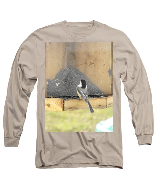 Chickadee Eating Lunch Long Sleeve T-Shirt