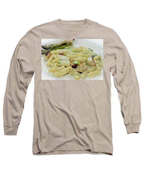 Chicken Alfredo Meal Long Sleeve T-Shirt by Susan Leggett