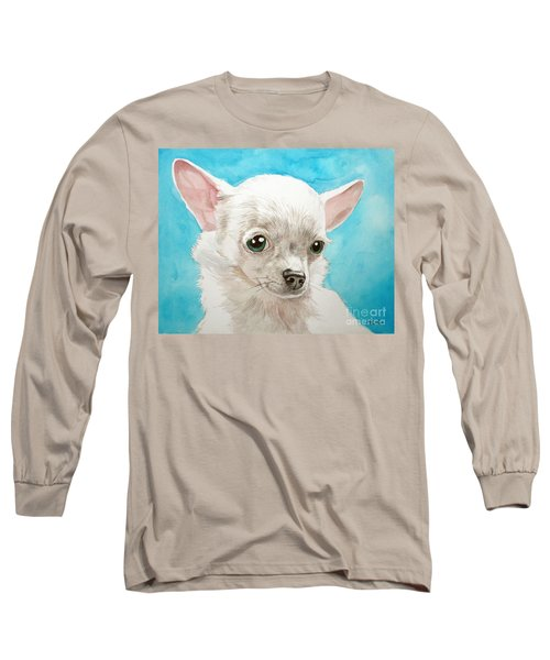 Chihuahua Dog White Long Sleeve T-Shirt