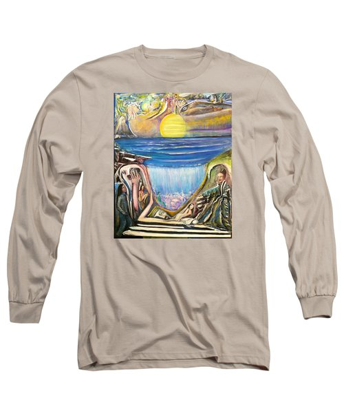 Long Sleeve T-Shirt featuring the painting Children Of The Sun by Kicking Bear  Productions