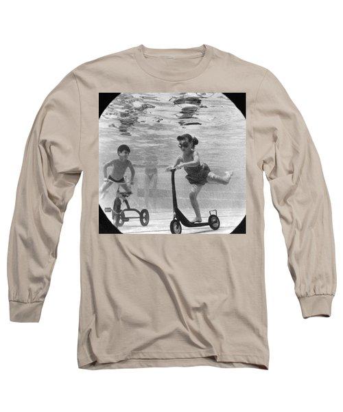 Children Playing Under Water Long Sleeve T-Shirt