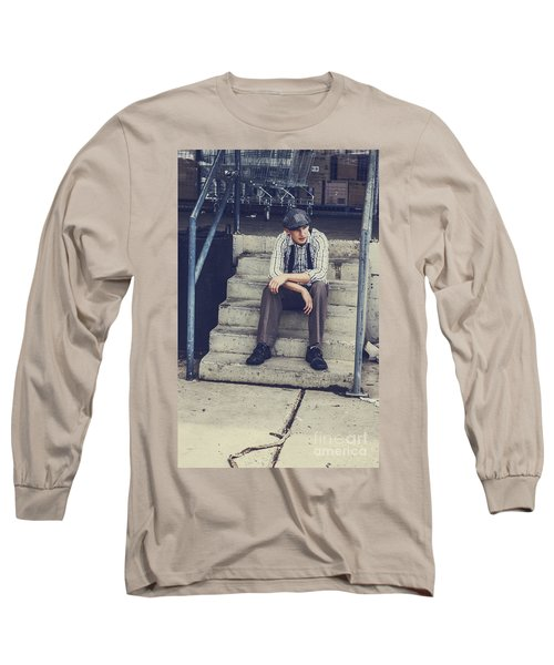 Chilled Out Retro Fashion Model  Long Sleeve T-Shirt