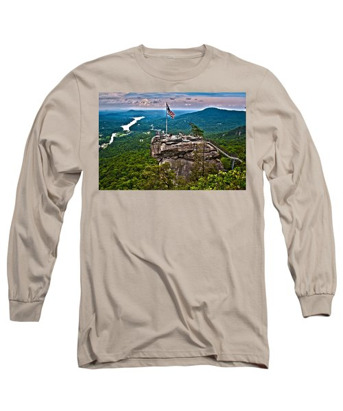 Long Sleeve T-Shirt featuring the photograph Chimney Rock At Lake Lure by Alex Grichenko