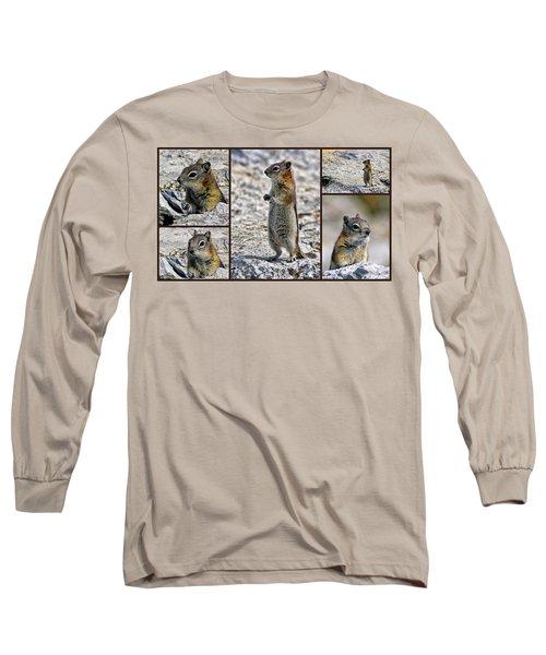 Chipmunk Collage Long Sleeve T-Shirt