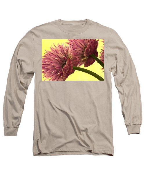 Chive Macro Beauty Long Sleeve T-Shirt by Sandra Foster