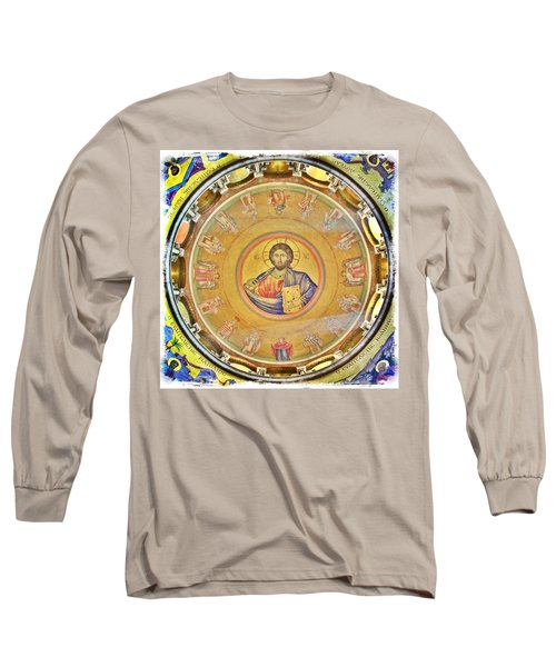 Christ Pantocrator -- Church Of The Holy Sepulchre Long Sleeve T-Shirt