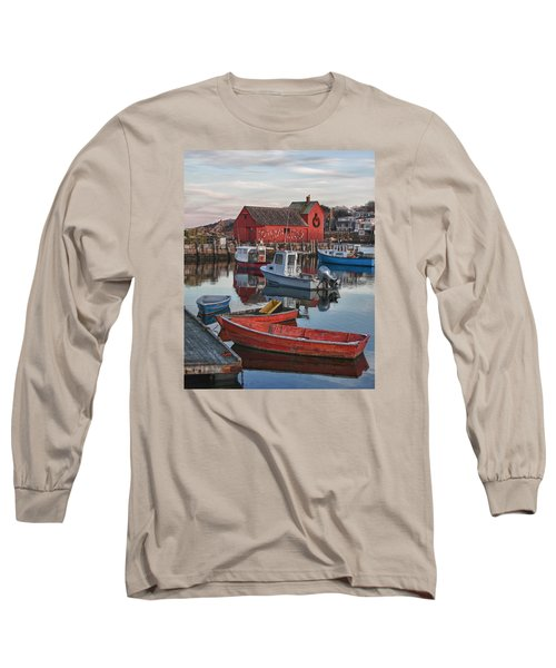 Christmas At Motif1 Rockport Massachusetts Long Sleeve T-Shirt