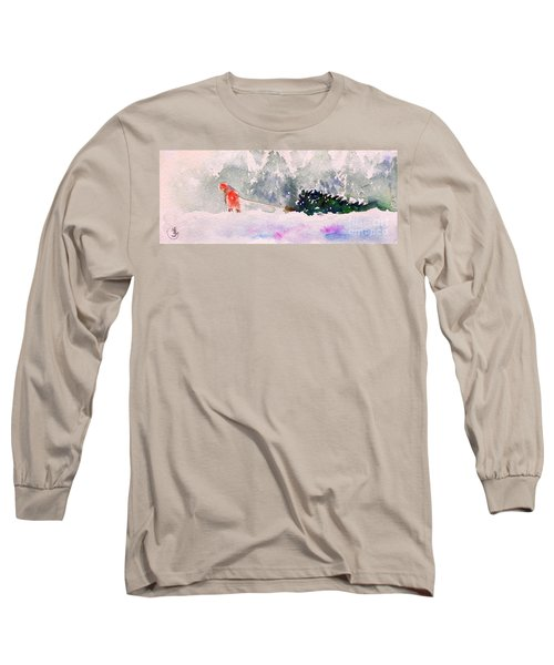 Christmas Is Coming Long Sleeve T-Shirt by Yoshiko Mishina
