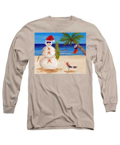 Christmas Sandman Long Sleeve T-Shirt by Jamie Frier