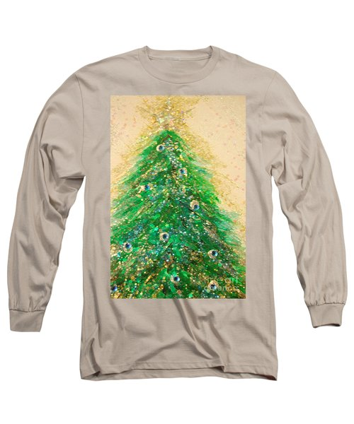 Christmas Tree Gold By Jrr Long Sleeve T-Shirt