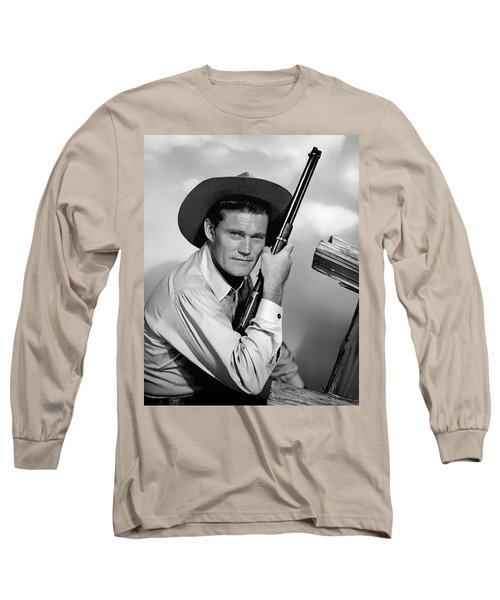 Chuck Connors - The Rifleman Long Sleeve T-Shirt by Mountain Dreams
