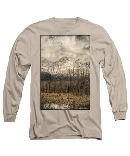 Chugach Mountains In Storm Long Sleeve T-Shirt
