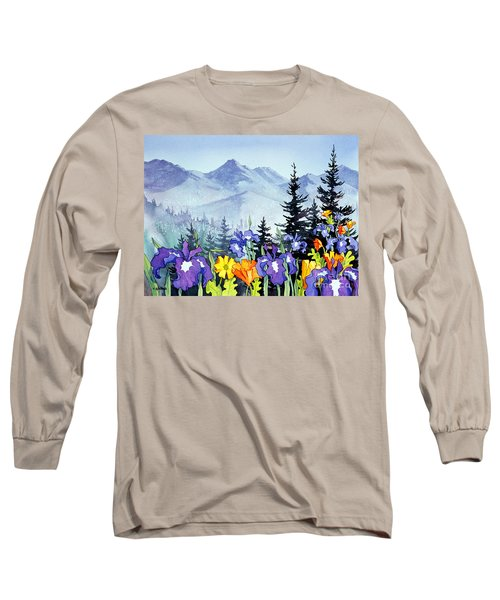 Long Sleeve T-Shirt featuring the painting Chugach Summer by Teresa Ascone
