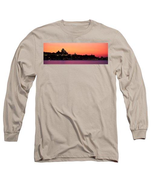 City At Dusk, Chateau Frontenac Hotel Long Sleeve T-Shirt