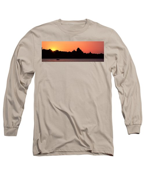City At Sunset, Chateau Frontenac Long Sleeve T-Shirt