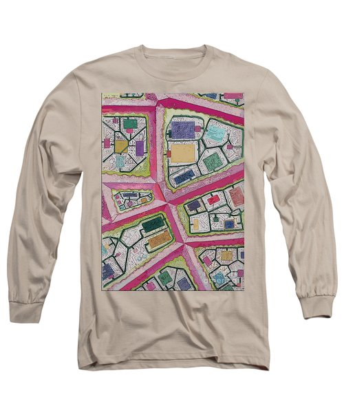 Long Sleeve T-Shirt featuring the digital art City Circuits by Carol Jacobs