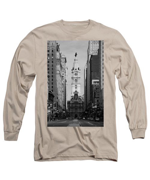 City Hall B/w Long Sleeve T-Shirt