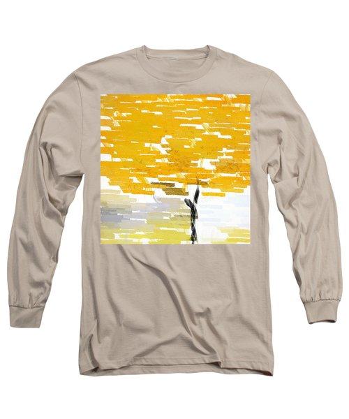 Classy Yellow Tree Long Sleeve T-Shirt