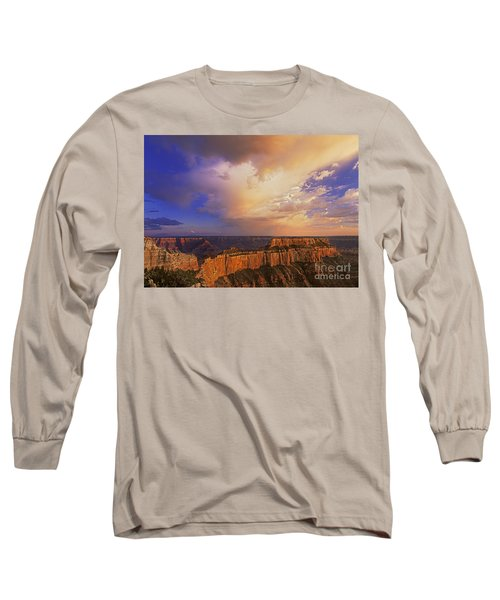 Clearing Storm Cape Royal North Rim Grand Canyon Np Arizona Long Sleeve T-Shirt by Dave Welling
