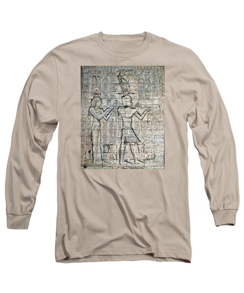 Long Sleeve T-Shirt featuring the painting Cleopatra And Caesarion by Leena Pekkalainen